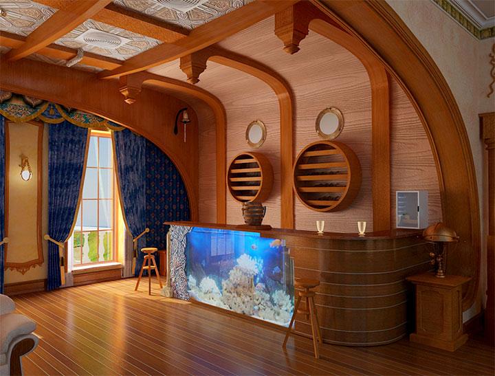 Баня в морском стиле