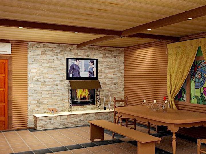 Дизайн комнаты для отдыха в бане