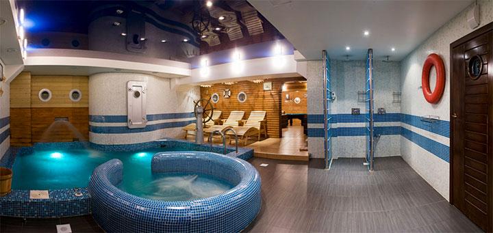 Интерьер в морском стиле для бани