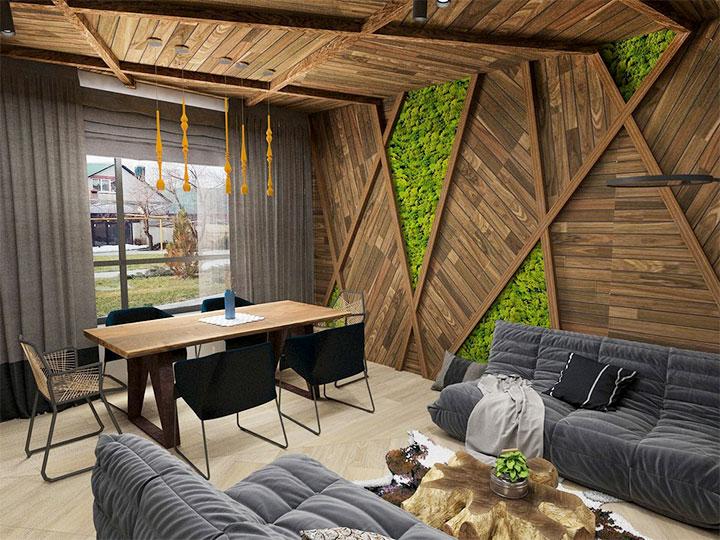 Комната отдыха в современном стиле