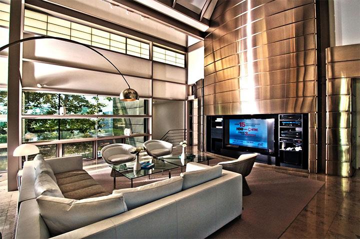 Комната отдыха в стиле хай-тек