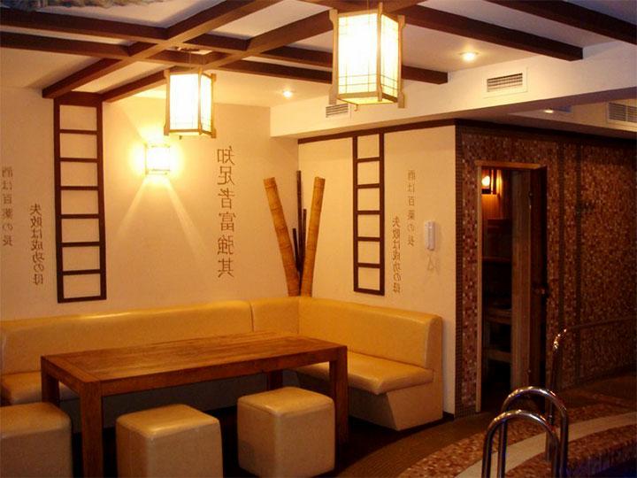 Комната в бане в восточном стиле