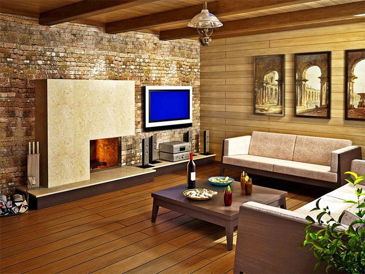 Оформление комнаты отдыха для бани