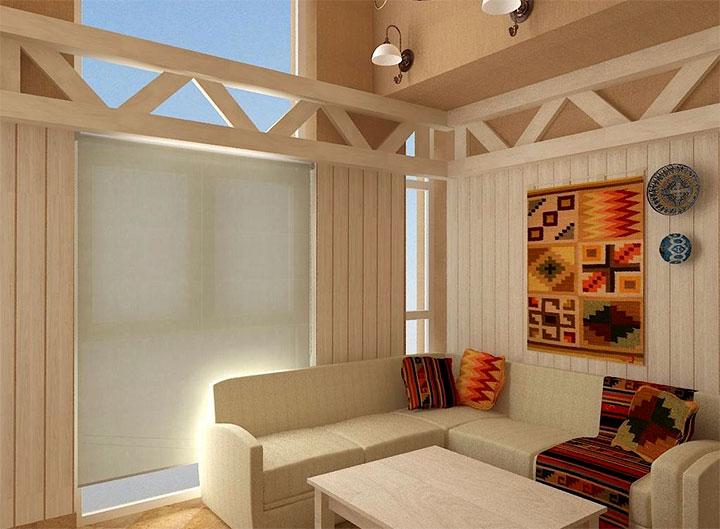 Оформлении комнаты для отдыха в стиле модерн