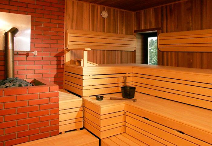 Интерьер финской бани