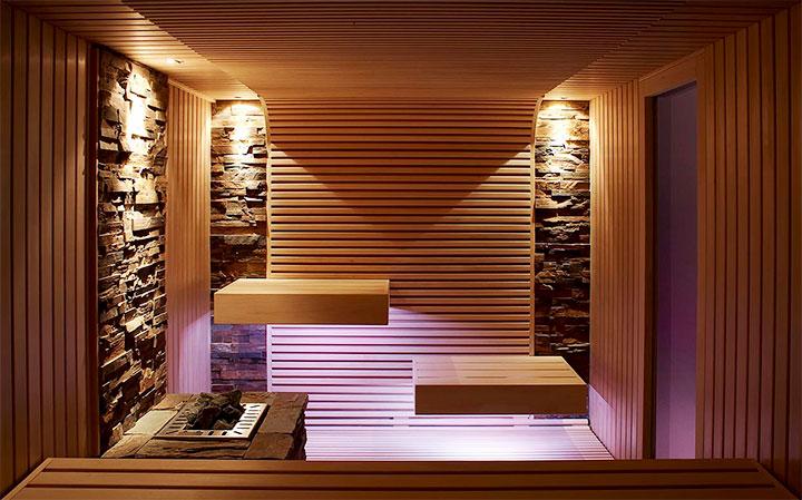 Современный интерьер бани в стиле модерн