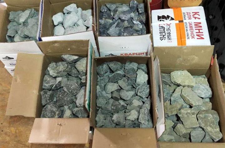 Виды камней для бани