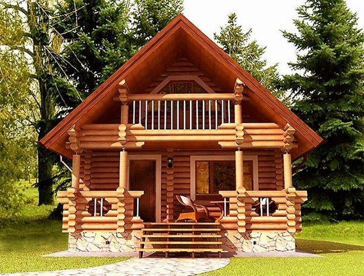Двухэтажная дом с баней и террасой