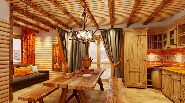 Стиль оформления комнаты отдыха в бане