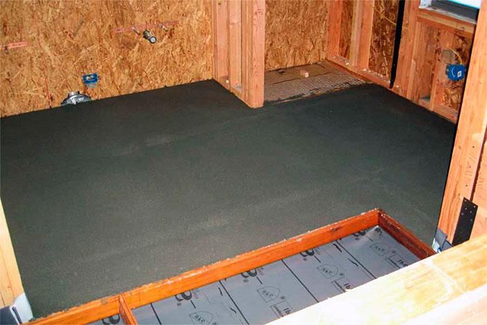 Обустройство бетонного пола