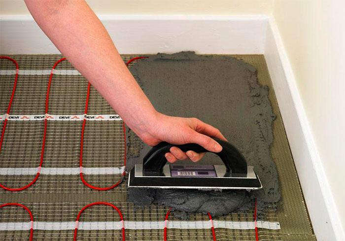 Процесс создания теплого электрического пола