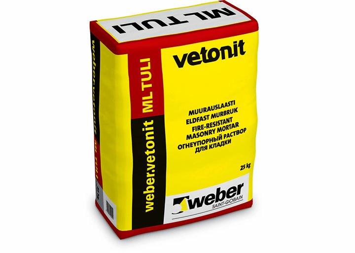 Огнеупорный раствор для кладки «Ветонит»