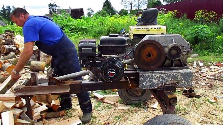 Электромеханический колун для дров