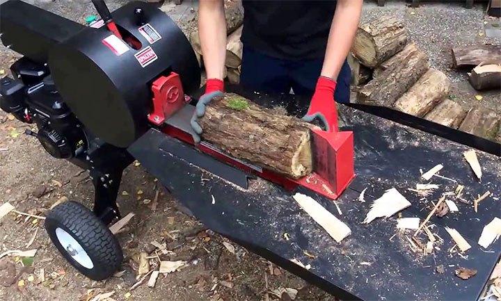 Колка дров электромеханическим колуном