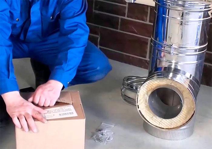 Провека качества труб для дымохода