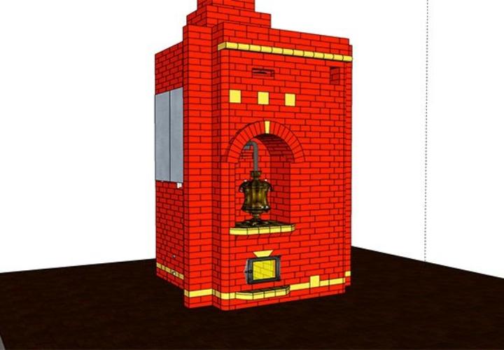 3D проект кирпичной печки