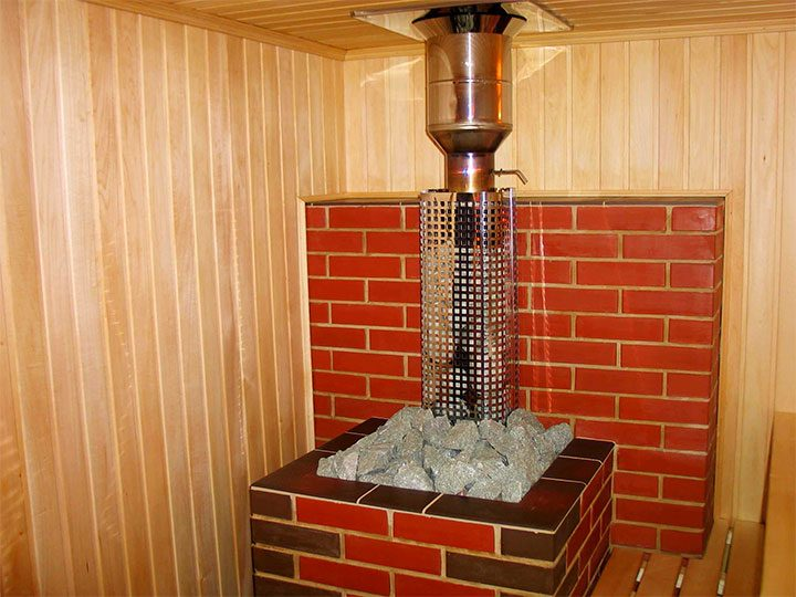 Банная печь открытого типа