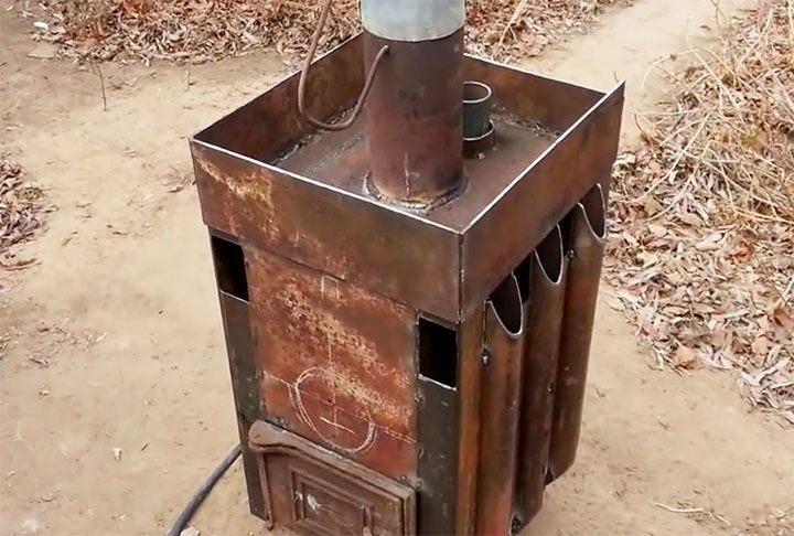 Банная печь из толстого металла