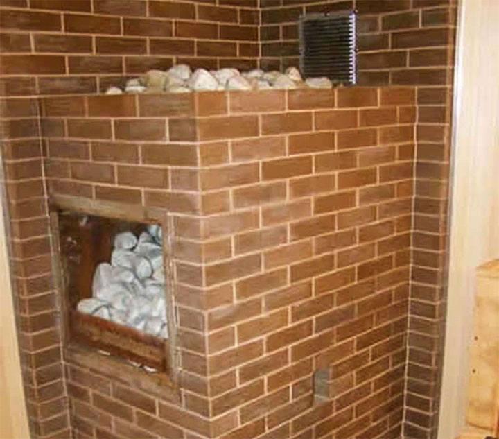 Банная печка из кирпича