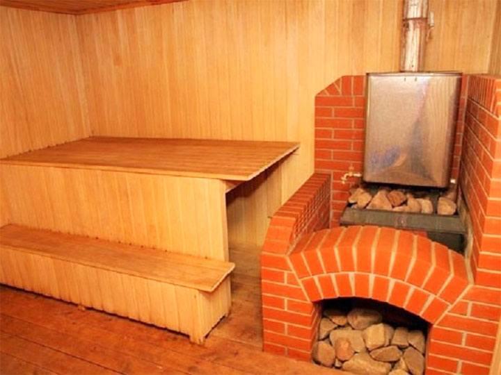 Мини печь из кирпича для бани