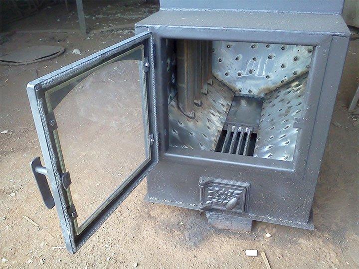 Самодельная банная печь из металла