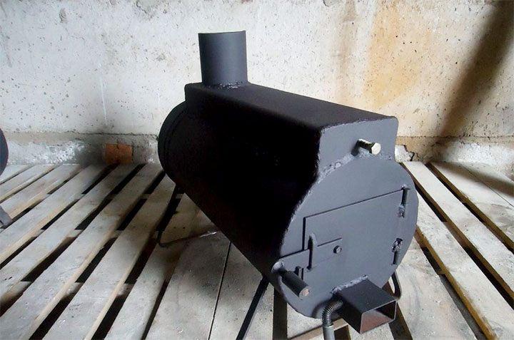 Самодельная горизонтальная печь