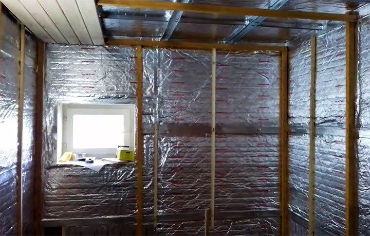 Теплоизоляция стен в бане