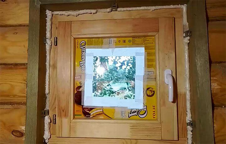 Установка окна в бане
