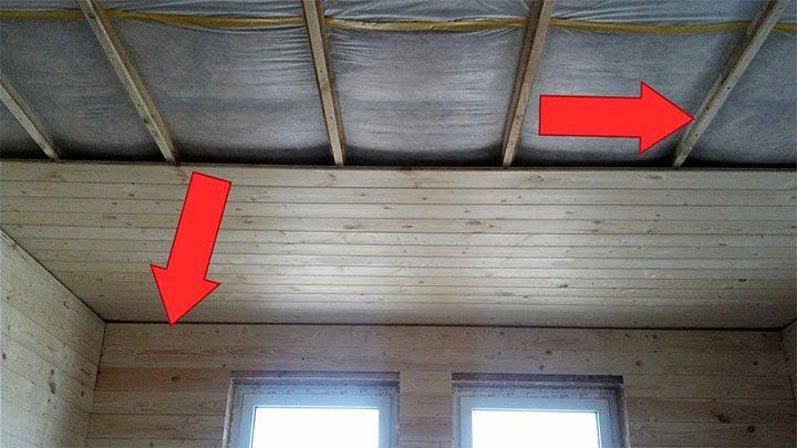 Обшивка потолка вагонкой