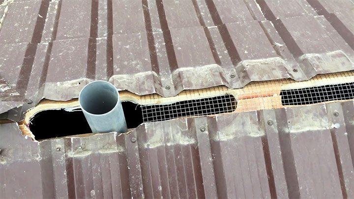 Вывод вентиляционной трубы на крышу