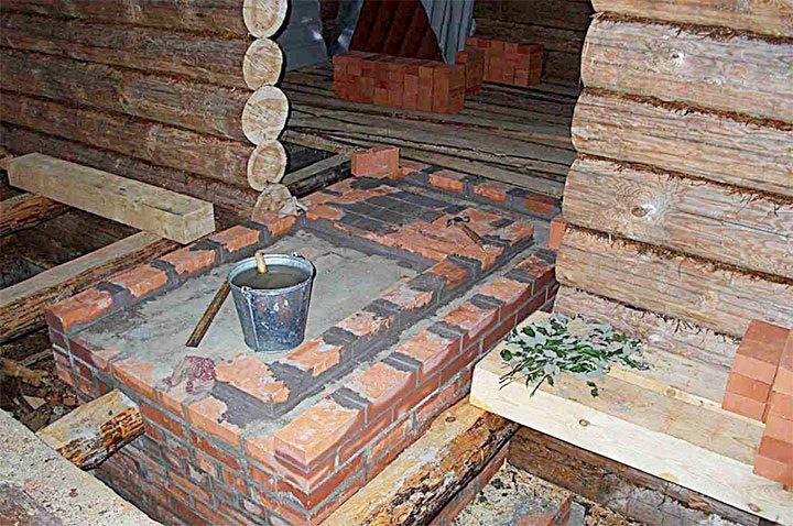 Фундамент под банную печь