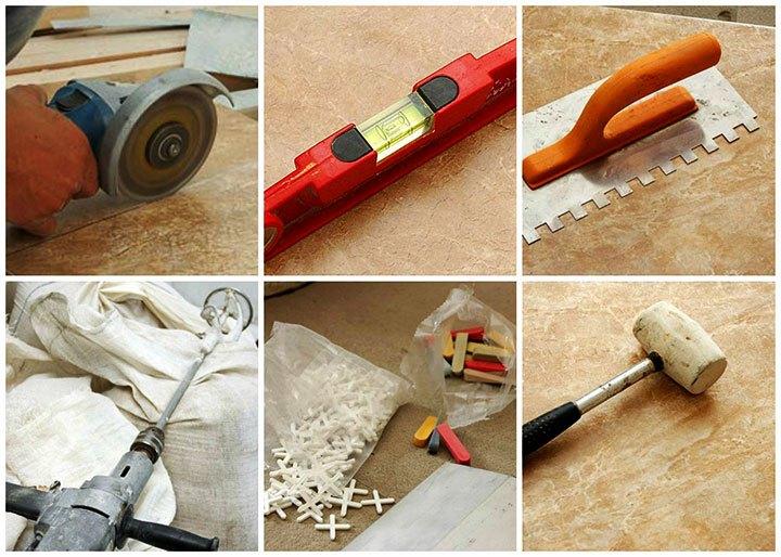 Инструменты работы с керамической плиткой