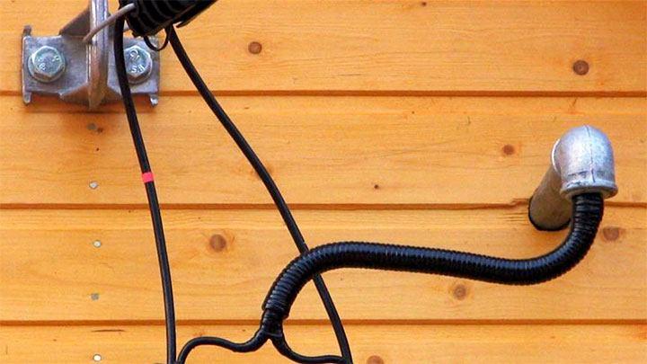 Подключение бани к электрической цепи