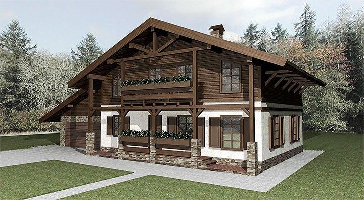 3d проект альпийского домика
