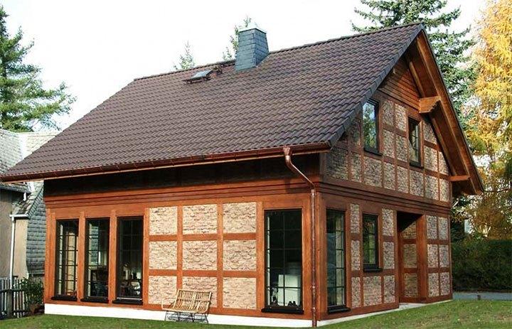 Частный дом в стиле фахверк