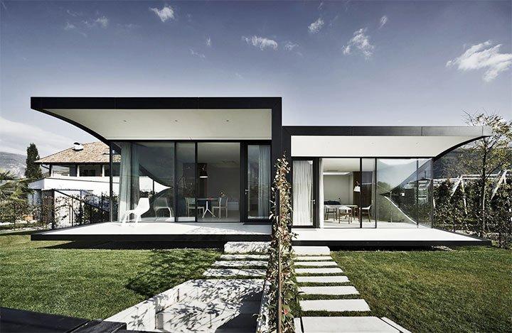 Модерн в оформлении фасада