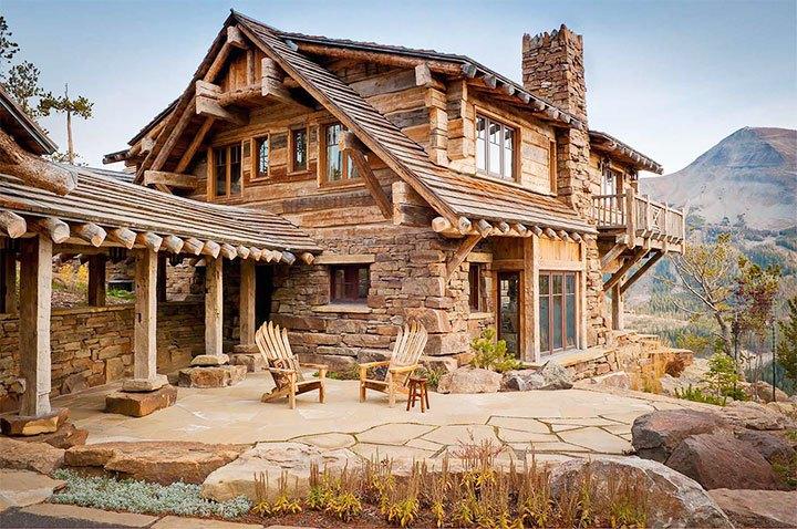 Отделка фасада в деревенском стиле