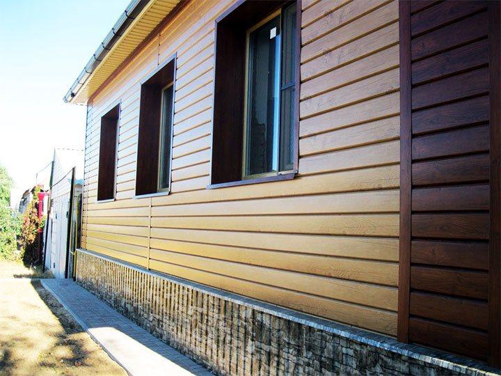 Отделки наружных стен деревянным сайдингом