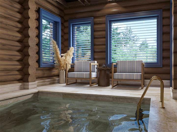 Декорирование комнаты с бассейном