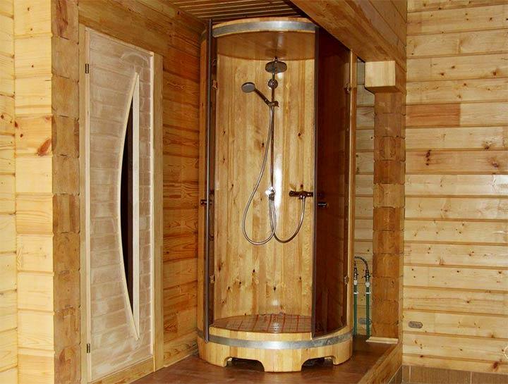 Душевая кабинка для бани