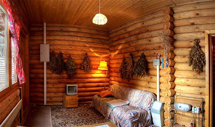 Обустройство места для отдыха в бане