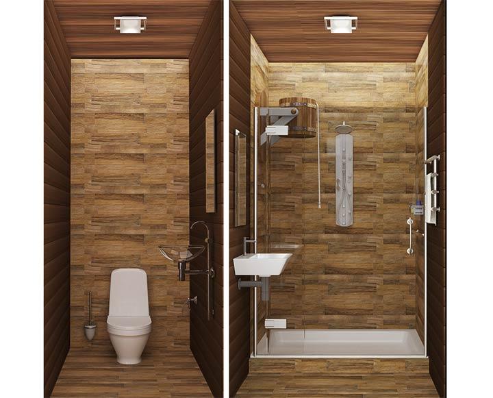 Обустройство санузла в бане