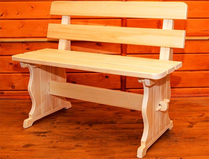Разборная скамейка из дерева