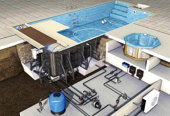 Установка оборудования для бассейна