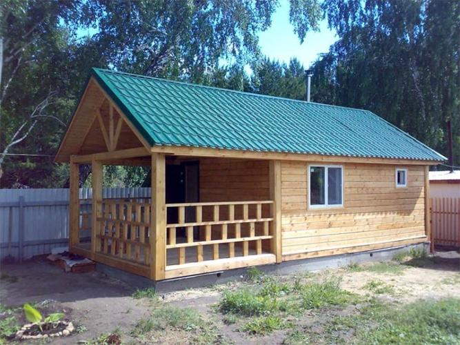 Банька из дерева для дачи