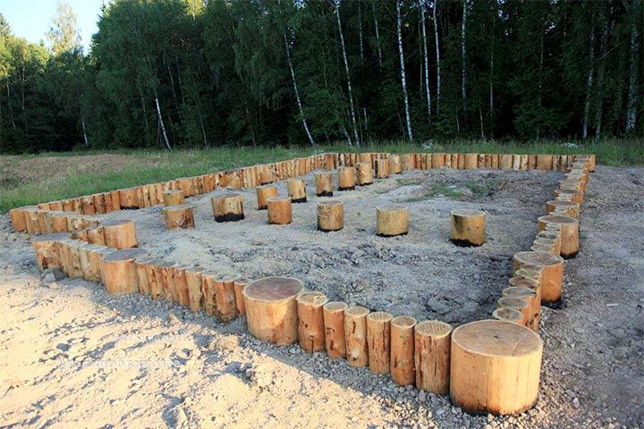 Деревянный фундамент