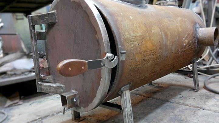 Печь из трубы