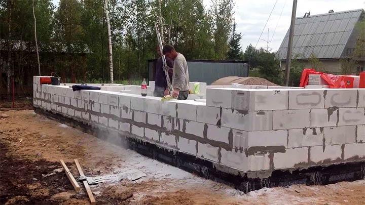 Строительство из пенобетона