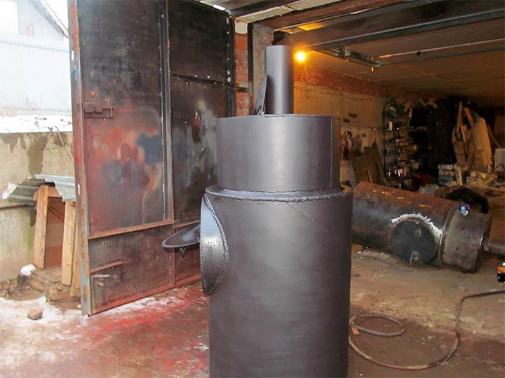 Вертикальная печка из трубы
