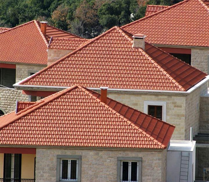 Дома с одинаковыми крышами